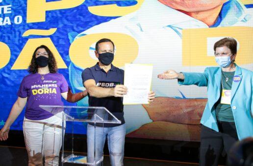 Doria assina Carta-Compromisso do PSDB-Mulher e se compromete com 50/50
