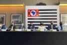 Mulheres na mesa na Reunião de Secretariado do governo de São Paulo